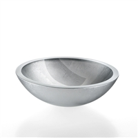 Silver Leaf Vessel Sink