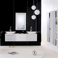 White & Silver Wall Mounted Vanity
