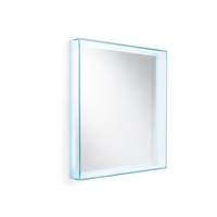 Glass Framed Wall Mirror w/LED