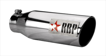 "RBP TIP 4"" TO 6"" X 18""L STAINLESS STEEL TIP, TWO TONE LOGO W/RED STAR RBP-46002R"