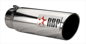 "RBP TIP 5"" TO 6"" X 18""L STAINLESS STEEL TIP, LASER CUT LOGO W/RED STAR RBP-56002-R"