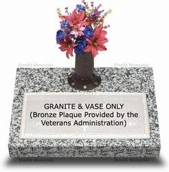 Granite Base w/Vase for VA Bronze