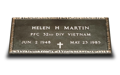 Bronze Military Grave Marker (Bronze Only)