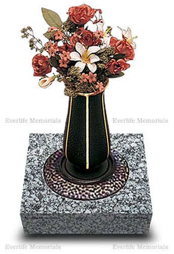 Durable Bronze Vase With Granite Base For Holding Flowers