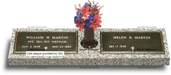 double bronze veteran markers and military grave markers for couples