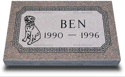 Premium Granite Grave Marker for Pets