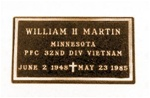 Veterans Bronze Niche Plaque NS-188