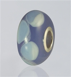 Lavender Dots Glass Cremation Bead for Pandora Bracelets