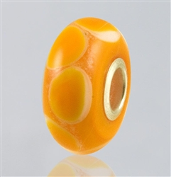 Orange Dots Glass Cremation Bead for Pandora Bracelets