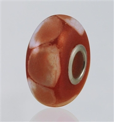 Red Dots Glass Cremation Bead for Pandora Bracelets