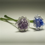 Eternal Bloom Glass Cremation Keepsake
