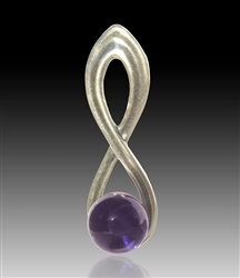 Harmony Silver & Glass Pearl Pendant - Purple