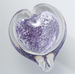 Boundless Heart Glass Cremation Keepsake