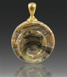 Calico Helix Glass Cremation Pendant