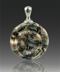 Granite Helix Glass Cremation Pendant