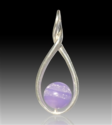 Melody Glass Pearl Cremation Pendant - Lavender