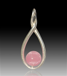 Melody Glass Pearl Cremation Pendant - Pink