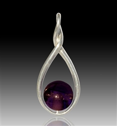 Melody Glass Pearl Cremation Pendant - Purple