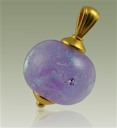 Glass Cremation Pendant - Lavender
