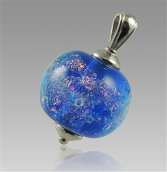 Glass Cremation Pendant - Swirling Galaxy Pulsar