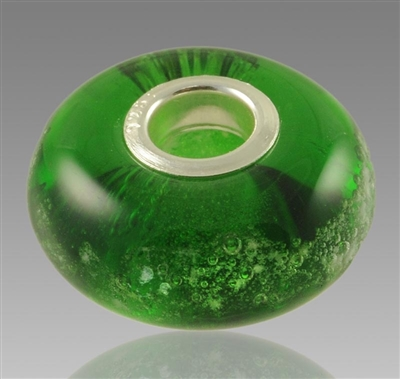 Green Glass Cremation Bead for Pandora Bracelets