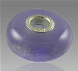 Lavender Glass Cremation Bead for Pandora Bracelets