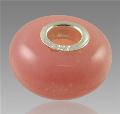 Pink Glass Cremation Bead for Pandora Bracelets