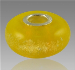 Yellow Glass Cremation Bead for Pandora Bracelets