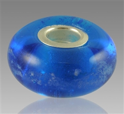 Blue Glass Cremation Bead for Pandora Bracelets