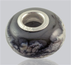 Gray Glass Cremation Bead for Pandora Bracelets