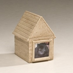 Ceramic Doghouse Pet Urn