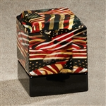 Stars & Stripes Ceramic Urn