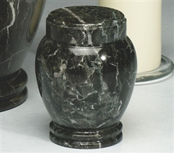 Dark Green Marble Pet Urn