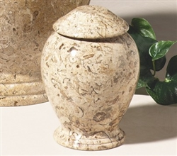 Fossil Marble Pet Urn