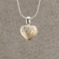 Rose With Stem Locket Jewelry Pendant
