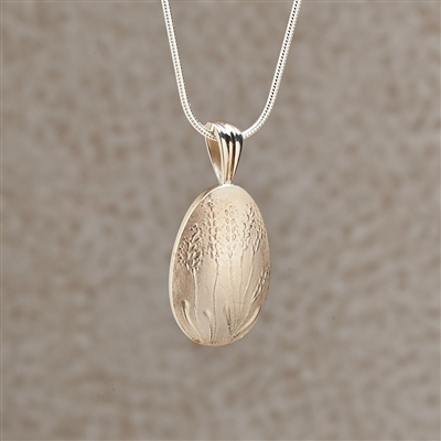 Lavender Bud Locket Jewelry Pendant