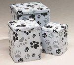 Paw Print Tin Pet Urn