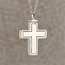 Plain Cross Cremation Pendant