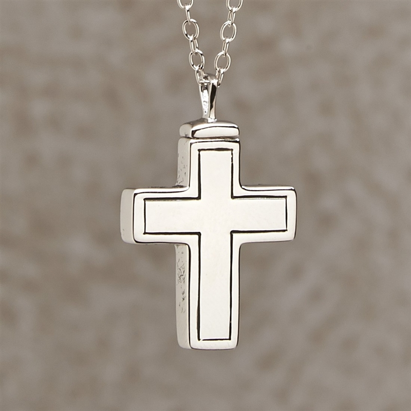 Plain cross cremation pendant by everlife memorials plain cross cremation pendant aloadofball Image collections