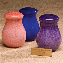 Capri Infant Glass Urns