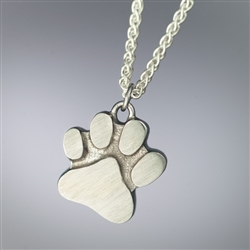 Dog's Paw Print Pet Cremation Jewelry