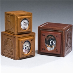 Photo Block Pet Urn