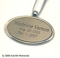 Engraved Oval Urn Pendant