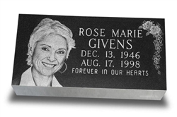 Beveled Laser Engraved Marker
