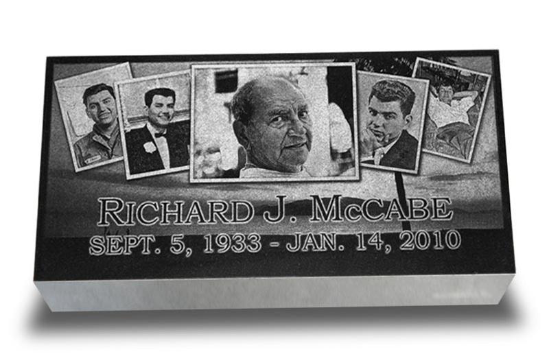 Collage Of Memories Laser Engraved Grave Marker