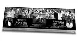 Collage of Memories™ Laser Engraved Grave Marker