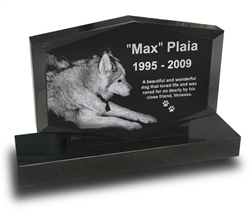 Diamond Shape Pet Upright Headstone