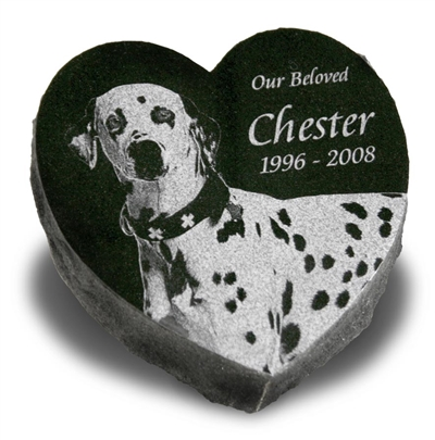 Heart Pet Grave Marker