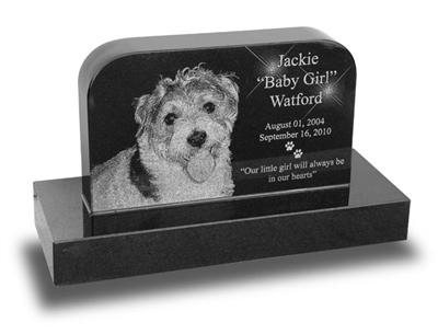Small Upright Pet Gravestone