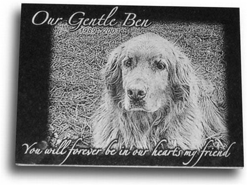 8 x 6 pet memorial plaque with laser engraving